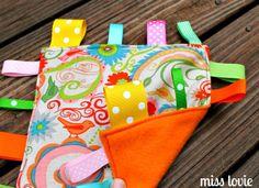 Miss Lovie: Crinkle Tag Toy=Easiest DIY Baby Toy Ever