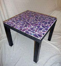 Donner une touche originale à votre #table avec des vieux #CD #recyclés.