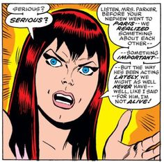 Angry Mary Jane in Amazing Spider-Man #147
