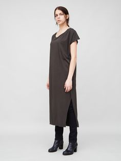 Side Pleat Box Maxi in Fatigue by OAK