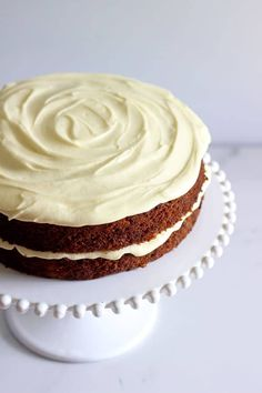 My all time favourite Carrot Cake recipe - loaded with grated carrot, crushed pineapple, crunchy walnuts and smothered in cream cheese frosting, this will become your favourite carrot cake recipe too! Carrot Cake Decoration, Crushed Pineapple, Cinnamon Cream Cheeses, Round Cakes, Cake Tins, Cream Cheese Frosting, Baking Soda, Carrots, Icing