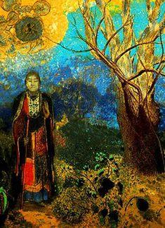 Odilon Redon -  Buddha (pastel on paper)