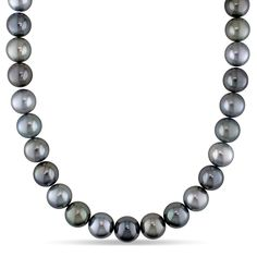 Miadora Signature Collection 14k Gold Tahitian Pearl and Diamond Accent Necklace