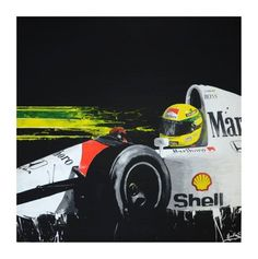 Classic #F1 Art – Ayrton Senna by Tom Havlasek