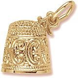 Gold Charm. If you collect thimbles, you are a digitabulist. Style # 8167. See more Gold Mother and Baby Charms at http://www.charmnjewelry.com/search/n250/Mothers.htm?returlurl