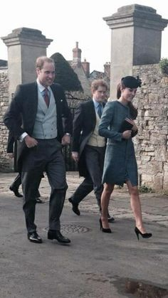 Prince William, #Kate & Prince Harry attended a wedding today 03.29.14 RT @Ben_Chalky RT @Clare Thompson Royals