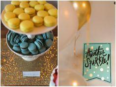Gold foil, gold glitter, gold runner, macaroons, CakeWalk Bake Shop, Caroline Creates, Charla Storey, Grit + Gold, Southern Wedding Group, Dallas Wedding Planner | Curator of Custom Events — Dallas-Fort Worth Wedding Planning Studio