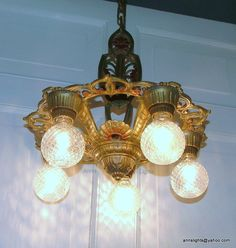 Vintage Lighting Antique Restored Ceiling Light Fixture 1930 Cast ...