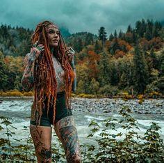 Red Dreads, Dreads Girl, Dreadlocks, Sacred Feminine, Feminine Energy, Divine Feminine, Plaits, Ginger Hair, Tattoo Models