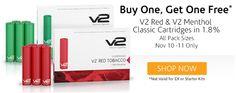 BOGO sale on V2 Red