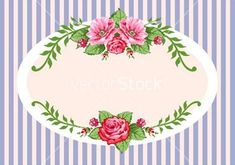 Illustration of Vintage roses oval frame with space for your text or design, invitation template vector art, clipart and stock vectors. Retro Vector, Vector Art, Printable Frames, Hijab Cartoon, Borders And Frames, Oval Frame, Paper Tags, Grafik Design, Free Illustrations