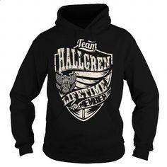 Last Name, Surname Tshirts - Team HALLGREN Lifetime Member Eagle - #gift #day gift