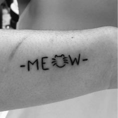 Meow tattoo