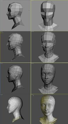 Build a head using topology techniques