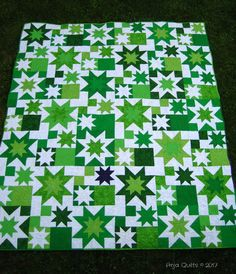 Welcome to Thank Goodness It's Finished Friday being hosted here again on the Ea… – 2020 World Travel Populler Travel Country Star Quilt Blocks, Star Quilt Patterns, Star Quilts, Scrappy Quilts, Patchwork Patterns, Canvas Patterns, Orange Quilt, Green Quilt, Quilting Projects