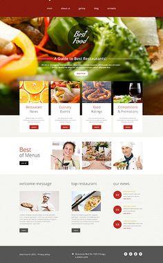 Best Food Restaurant #website #template. #themes #business #responsive