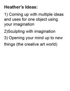 These are my ideas for a topic for the imagination spread..
