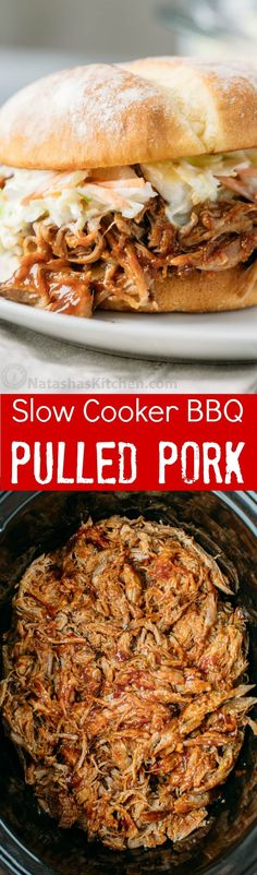 Slow Cooker BBQ Pulled Pork - Easy recipe and the pulled pork is so juicy and flavorful! Slow Cooker BBQ Pulled Pork - Easy recipe and the pulled pork is so juicy and flavorful! Crock Pot Slow Cooker, Crock Pot Cooking, Slow Cooker Recipes, Crockpot Recipes, Cooking Recipes, Healthy Recipes, Slow Cooker Pork Belly, Slow Cooker Dinners, Easy Bbq Recipes