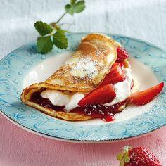 Erdbeer-Pfannkuchen Rezept   Küchengötter