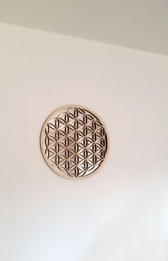 FLOWER OF LIFE wall decoration silver mirror