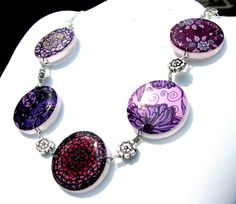 Purple+Grape+Vine+Statement+Necklace+Handmade+by+CaughtREDhanded,+$38.00