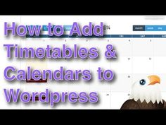 How to add Timetables, Diaries and Calendars to Wordpress