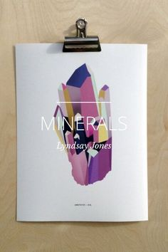 Lindsay Jones Minerals Prints - see a selection of her work in this mini catalogue. Made using the awesome @Steller #app. #print #walls #nursery #kids #bedroom #livingrooom #gallery #minerals #nature #naturals #minimal #color #aquamarine #quartz #office #desk #workspace #inspiration #rocks #handmade #design #illustration #minerology