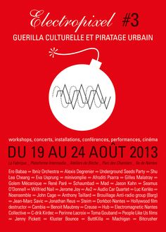 Apo33 flyer and poster (front) / electropixel festival #3 / august 2013