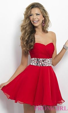 Strapless Homecoming Dress by Blush 9683 at PromGirl.com