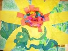 Second graders completed these amazing flowers in two sessions. Before we began, students looked at examples of O'Keeffe's art. They loved all the bright bold colors she used in her f…