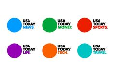 Wolff Olins has brought some of the techniques more usually associated with the world of corporate branding to the newspaper with the redesign of USA Today Corporate Identity, Identity Design, Visual Identity, Business Innovation, Innovation Design, Dynamic Logo, Ios Design, Dashboard Design, Graphic Design