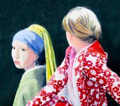 "Saatchi Art Artist Eckhard Besuden; Painting, ""Three studies of Zwei Freundinnen III"" #art"