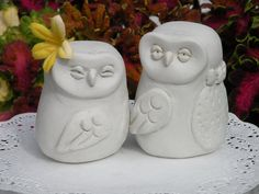Wedding Cake Topper handmade owls by ODDandWHIMSY on Etsy, $80.00
