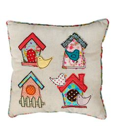 Take a look at this Cream Birdhouse Mini Throw Pillow by Rex International Ltd on #zulily today!