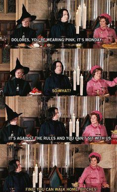 Mean Girls' fans know... Dolores, Hogwarts, Harry Potter Jokes, Books, Movies, It's Monday, Mondays, Wednesday, Funny Stuff
