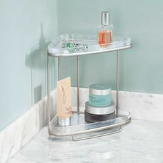 InterDesign® Rain 2-Tier Vanity Shelf