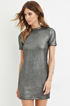 Contemporary Metallic Sheath Dress