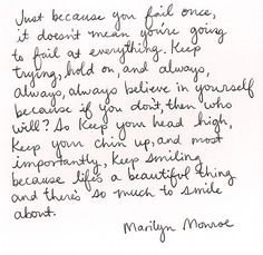 Marilyn was pretty smart. . . .