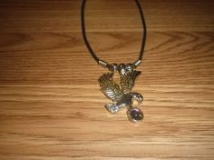 Eagle Charm Necklace Rope Necklace by NAESBARGAINBASEMENT on Etsy