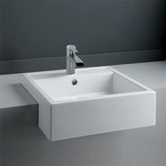 A semi recessed basin adds a stylish look to any bathroom. Find a wide range of semi recessed basins and recessed bathroom sinks at the lowest prices. Bathroom Sink Taps, Loft Bathroom, Bathroom Fixtures, Bathroom Ideas, Bathroom Toilets, Bathroom Shelves, Washroom, Bathroom Designs, Bath