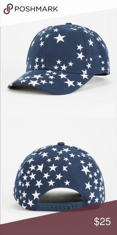 59d9f3fa696557 STAR SPANGLED SNAPBACK HAT BLUE AND WHITE Star Spangled snapback hat.  Features an allover star
