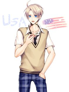 Tomoe Kiko, Axis Powers: Hetalia, United States, 600x800 Wallpaper, Flag, 3:4 Ratio