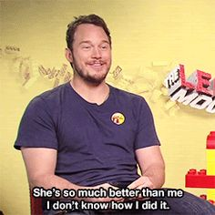 And it's so sweet how in awe he is that he managed to snag Anna Faris for a wife. | 28 Reasons Chris Pratt Is The Human Golden Retriever Of Your Dreams