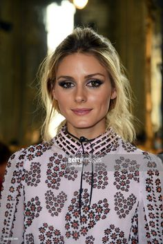 Olivia Palermo attends the Giamba show during Milan Fashion Week Spring/Summer 2017 on September 23, 2016 in Milan, Italy.