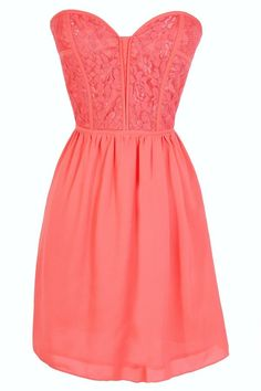 Sweetheart Strapless Dress in Coral @Cassie G Moats