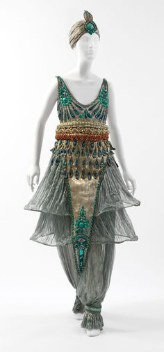 Paul Poiret's design, the Orientalist inspired harem pant, often thought of as a garment for evening wear and parties. Samantha Moeller 1/29/17
