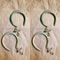 Multicolored hoops with charms