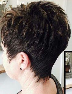 Short Hair Over 60, Funky Short Hair, Short Hair With Layers, Short Hair Cuts For Women, Short Hair Styles, Short Spiky Hairstyles, Short Layered Haircuts, Thin Hair Haircuts, Short Silver Hair
