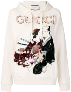 Gucci embroidered japanese motif hoodie