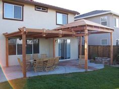 Pergola Designs Ideas And Plans For Small Backyard & Patio - You've likely knew of a trellis or gazebo, but the one concept that defeat simple definition is the pergola. Design Patio, Backyard Patio Designs, Pergola Designs, Backyard Projects, Backyard Landscaping, Grill Design, Backyard Gazebo, Backyard Ideas, Roof Design